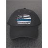 Hat - Thin Blue Line Adjustable Twill Cap - 305 Gray